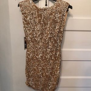 Alice + Olivia Gold Sequin dress